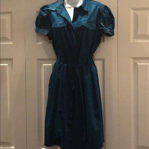 Worthington Stress Midi Shirt Dress